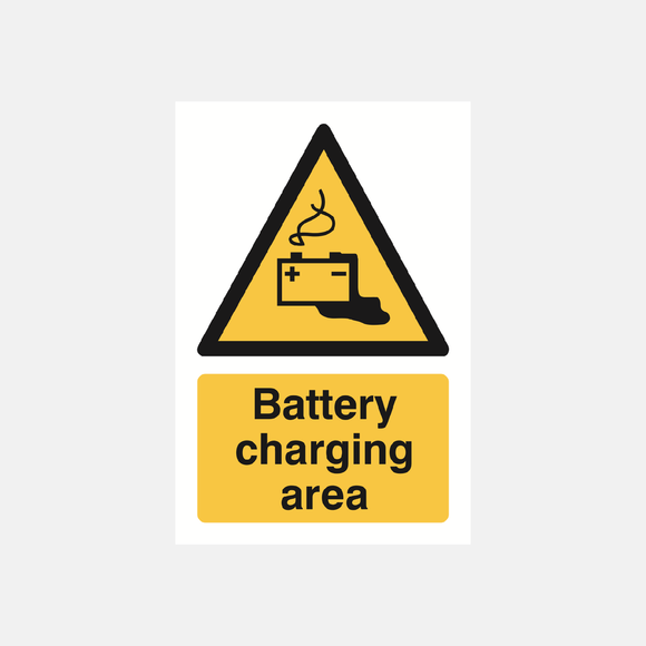 Battery Charging Sign Raymac Signs