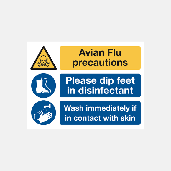 Avian Flu Precautions Sign Raymac Signs
