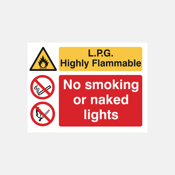 L.P.G Highly Flammable Sign Raymac Signs