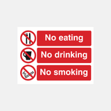 No Eating No Drinking No Smoking Sign Raymac Signs