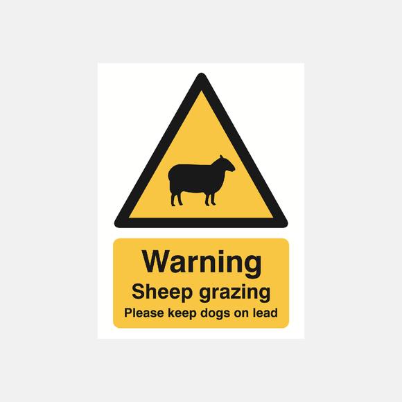 Warning Sheep Grazing Please Keep Dogs On Lead Sign Raymac Signs
