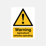 Agricultural Vehicles Sign Raymac Signs