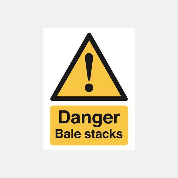Danger bale stacks sign Raymac Signs