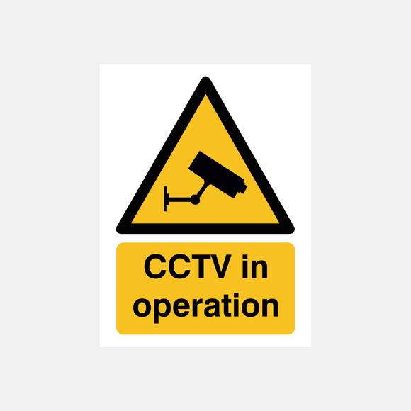 CCTV in Operation Sign Raymac Signs