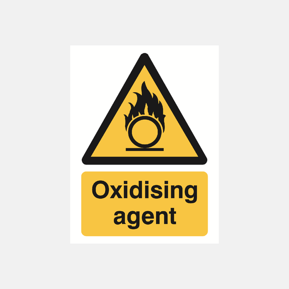 Oxidising Agent Sign Raymac Signs