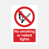 No Smoking or Naked Lights Sign Raymac Signs