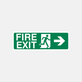 Fire Exit Right Sign Raymac Signs