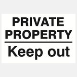 Private Property Keep Out Sign Raymac Signs