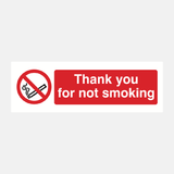 Thank You For Not Smoking Sign Raymac Signs