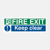 Fire Exit Keep Clear Sign Raymac Signs
