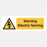Warning Electric Fencing Sign Raymac Signs