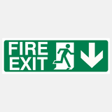 Fire Exit Down Sign Raymac Signs