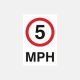 5 MPH Sign Raymac Signs