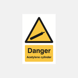 Danger Acetylene Cylinder Sign Raymac Signs