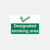 Designated Smoking Area Sign Raymac Signs