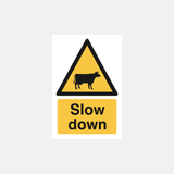 Slow Down Cattle Sign Raymac Signs