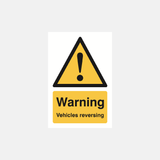 Warning Vehicles Reversing Sign Raymac Signs