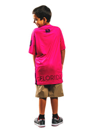 Florida Mayhem Youth Sublimated Replica Jersey, Pink