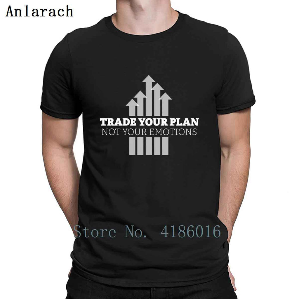Trade Your Plan Trader Shares Stock Exchange T Shirt Tee Shirt Leisure Plus Size 5xl Print Comfortable Standard Gift Shirt