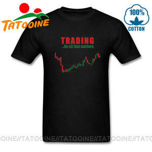 Tatooine Funny Men's O-neck Share Stock Trading T Shirt men Investment Forex Stock market Candlestick chart Harajuku T shirt man