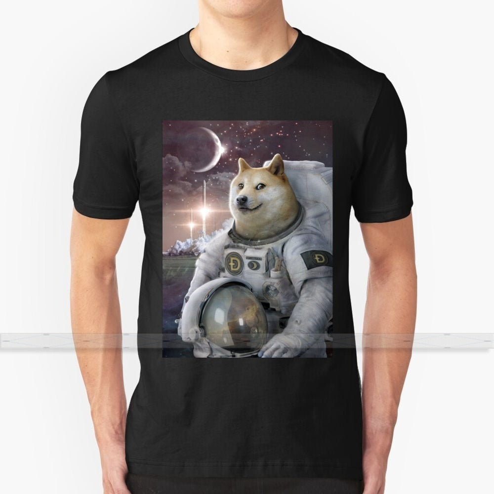 Very Astronaut Ver 3 T-Shirt Men 3D Print Summer Top Round Neck Women T Shirts Doge Meme Dogecoin Crypto Cryptocurrency Bitcoin