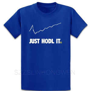 Crypto Currency Trade Just Hold Hodl Bitcoin Geek T Shirt Authentic Spring Short Sleeve Gents Crew Neck Designs Pictures Shirt