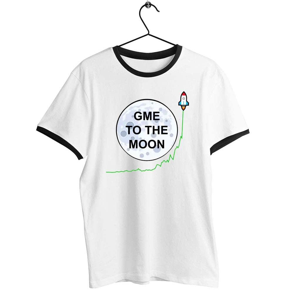 Unisex Men Women T Shirt Gamestonk Gamestop Gme To The Moon Artwork Printed Tee