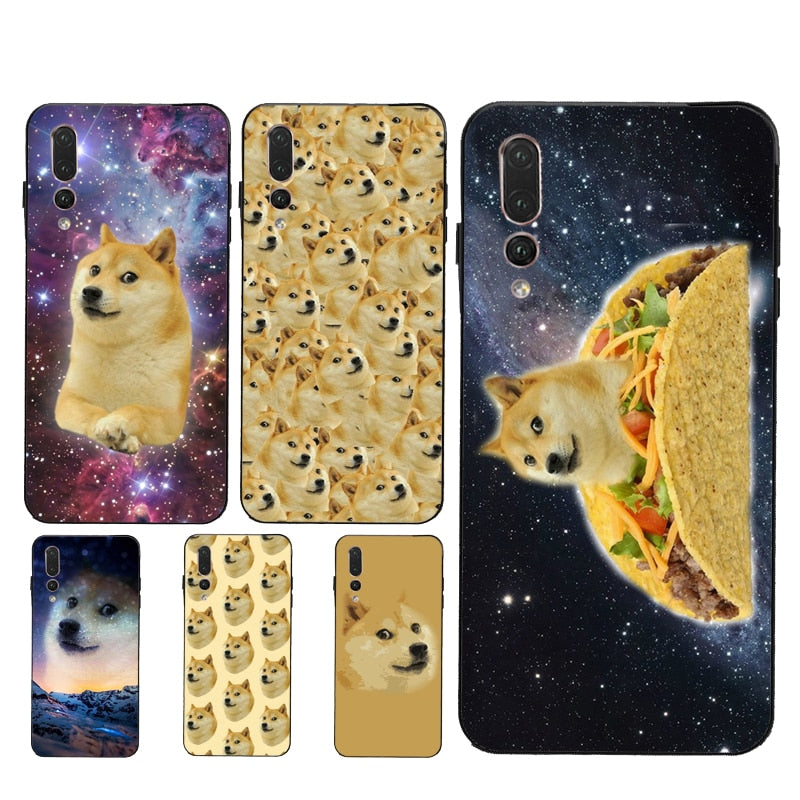 Space Doge Shiba Inu TPU Case For Huawei P40 P10 P20 P30 Lite Mate 20 10 30 Pro P Smart 2019 Z Cover