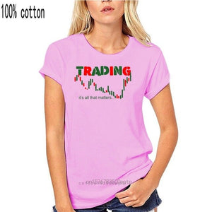 Men's O-neck Share Stock Trading Tee Shirt Investment Forex Stock market Candlestick chart Harajuku T shirt