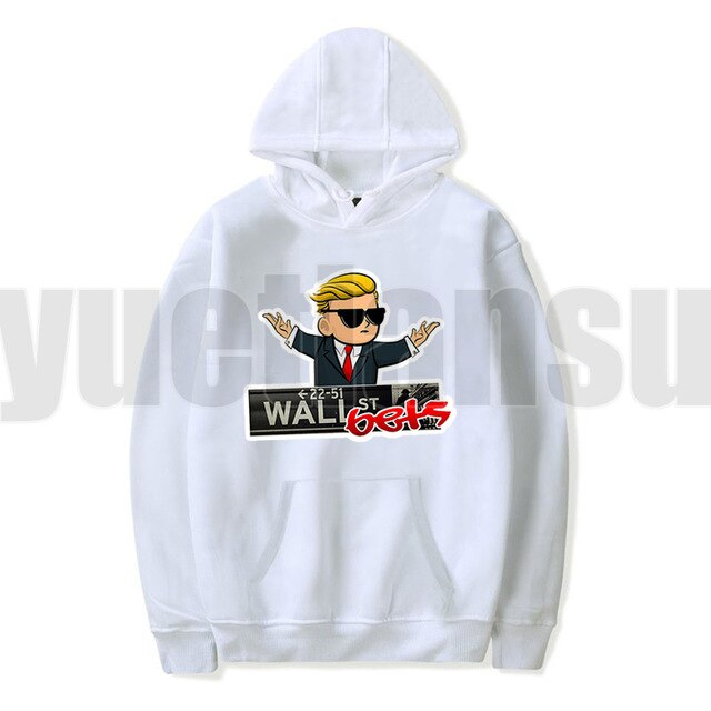 Fashion  WallStreetBets Hoodies Adults Sweatshirts Cloth Harajuku Teenager Oversize Hoodie Women Gamestop Sudadera Hombre 2021