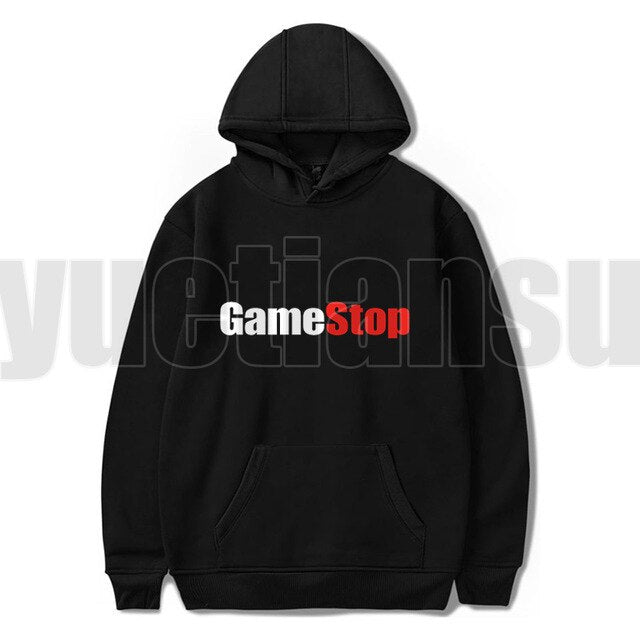 New Gamestop hoody Sudadera Hombre WallStreetBets Hoodies Adults Anime Oversize Hoodie Women Sweatshirts Cloth Harajuku Teenager