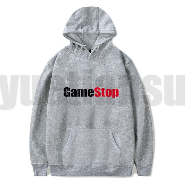 Men Wall Street Bets Letter Printed Hoodies WSB Unisex Casual Hooded Sweatshirts Women GME Pullovers Gamestop Hoodie Plus Size