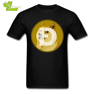 Revised Dogecoin Logo T Shirt Man Summer O Neck Cheap Tee Adult Latest Big Top Printed Custom Made Comfortable Teenage Tee Shirt