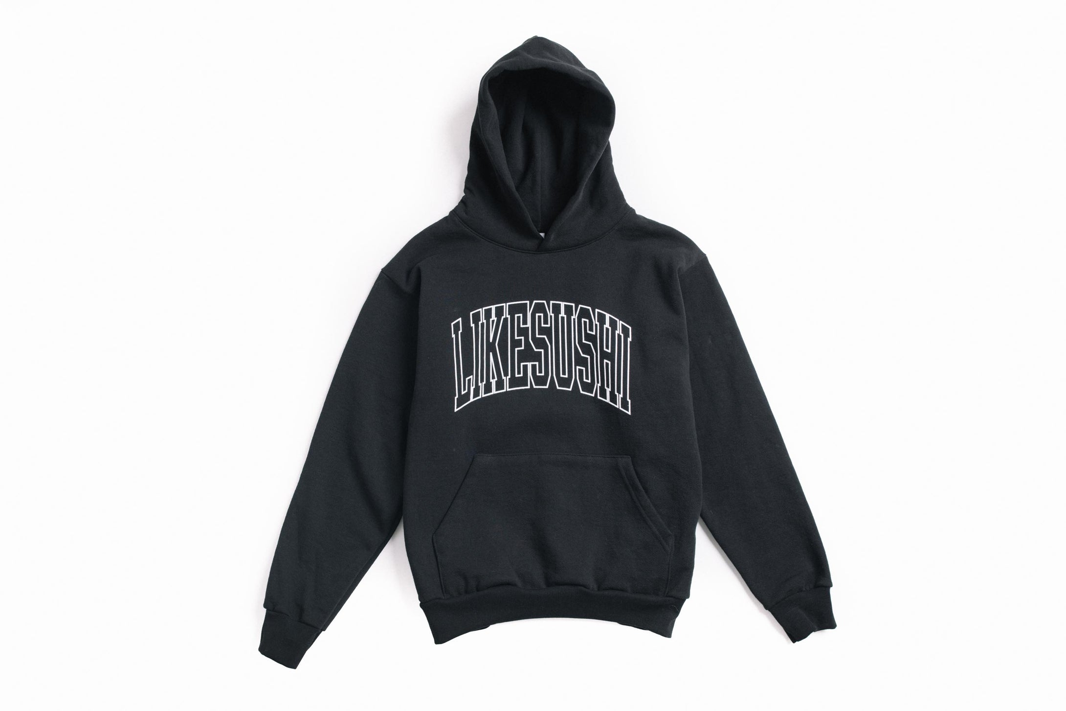 Arch Logo 2 Hooded Pullover (Black)