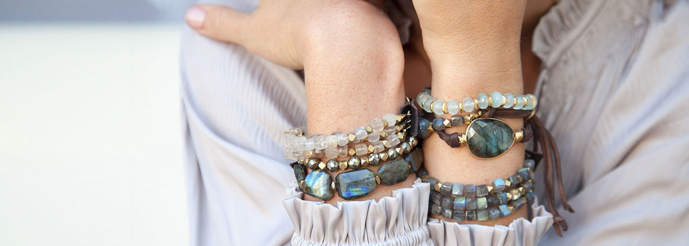 gemstone bracelets for layering