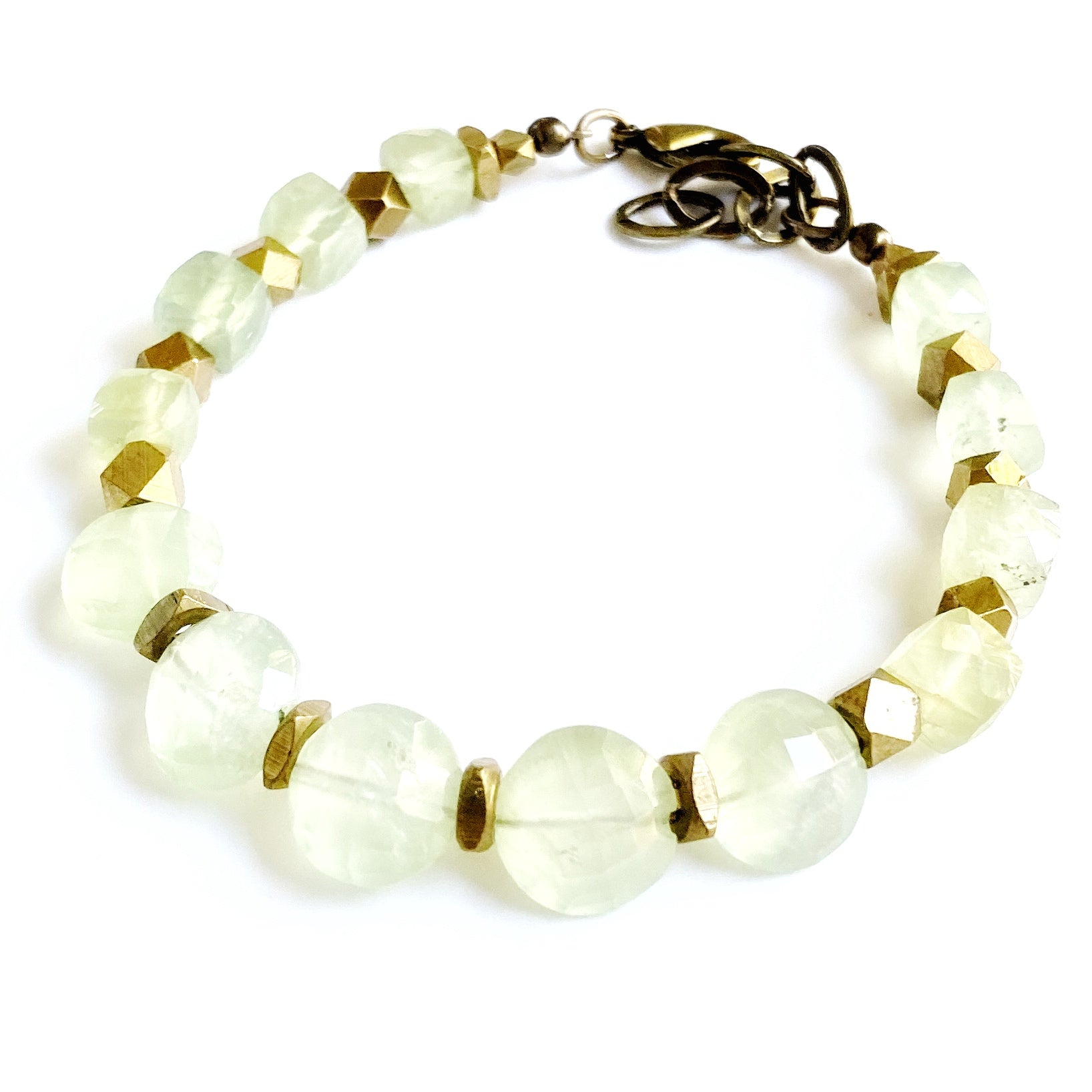 Rutherford Single Bracelet, Prehnite