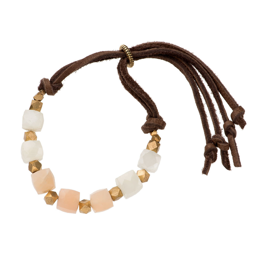Georgie Bracelet Blush Moonstone