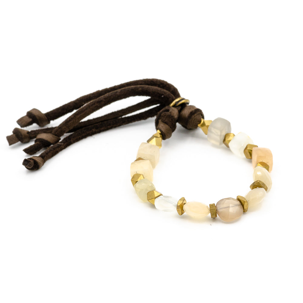 Rutherford Adjust Bracelet Moonstone