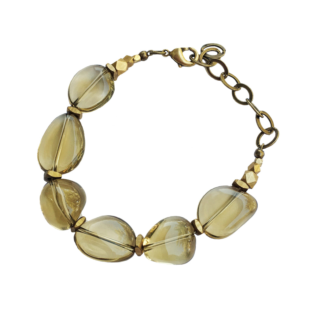 Riesling Bracelet Whiskey Quartz