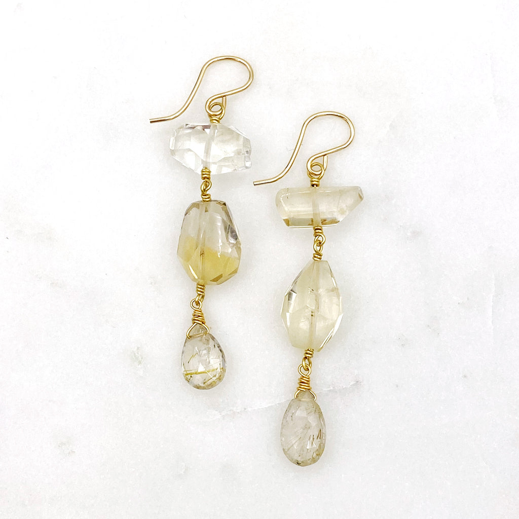 Sandrine Earrings, Citrine