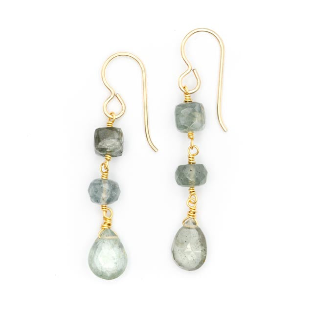 Canopy Earrings, Aquamarine