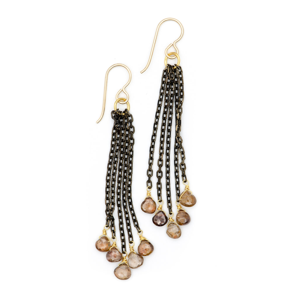 Opus Earrings, Garnet