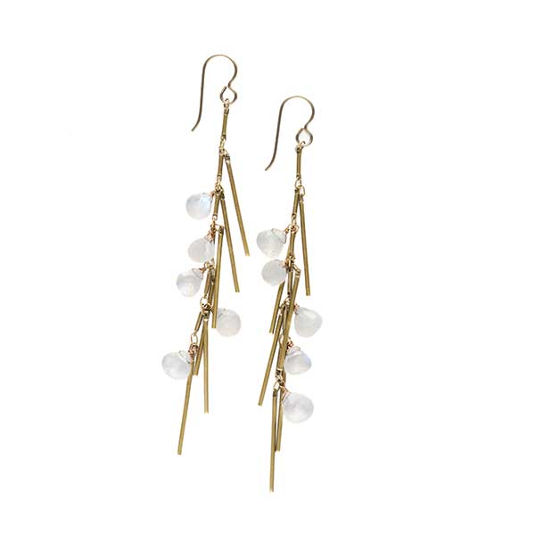 Boardwalk Tassel Earrings Moonstone