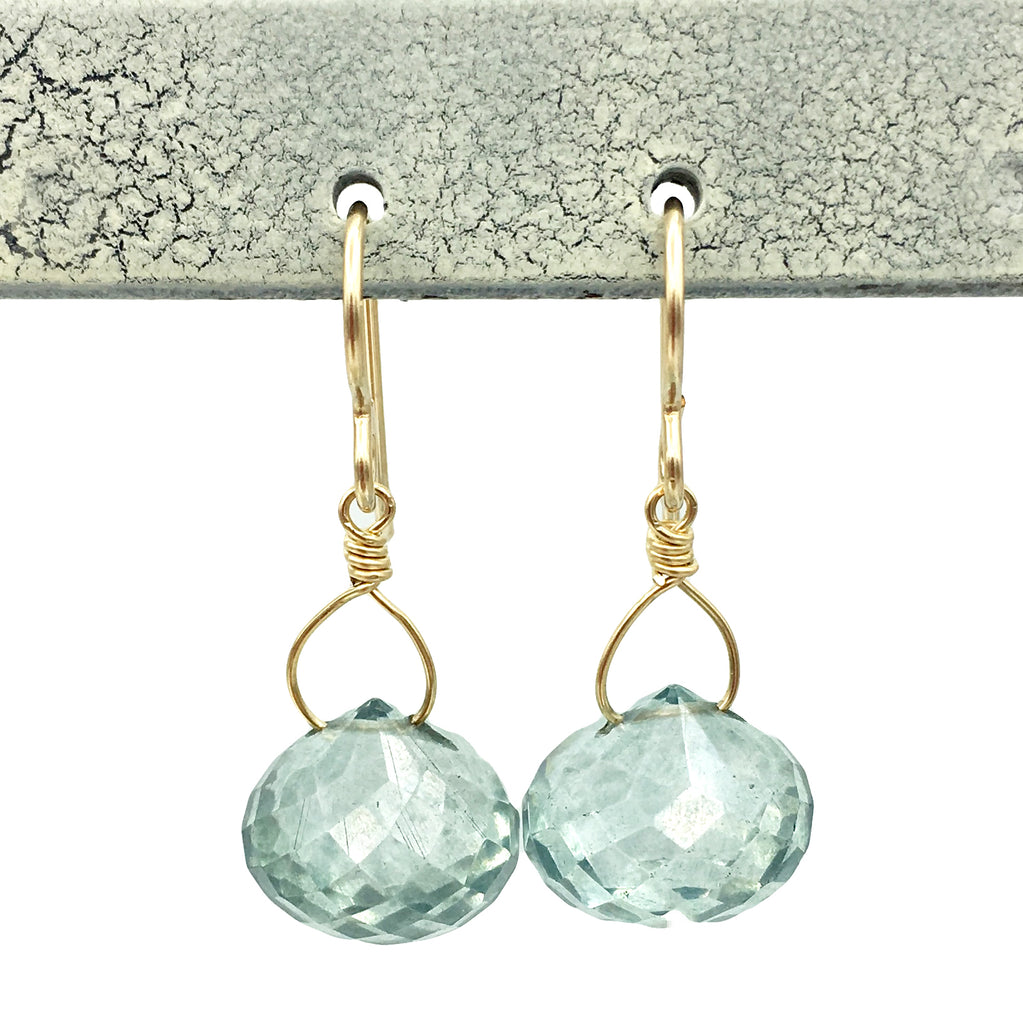 Celia Earrings, Ocean Droplets