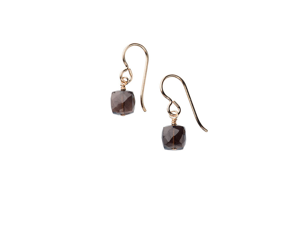 Cubist Smokey Quartz Earrings
