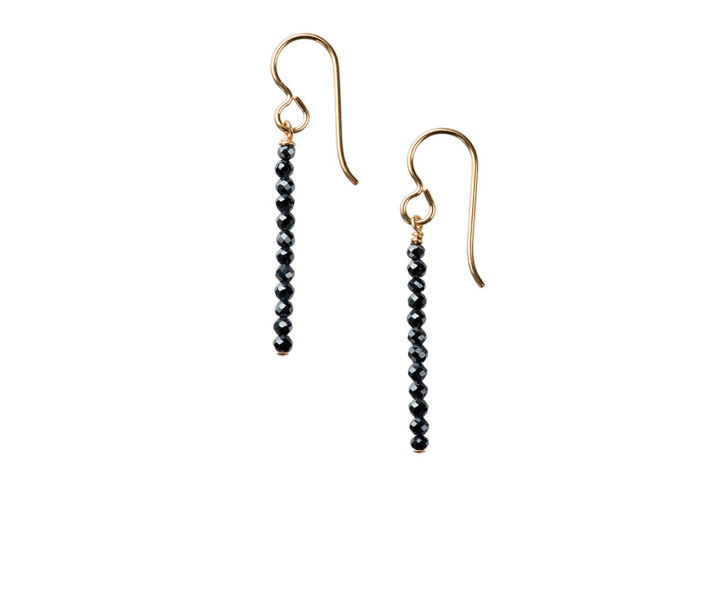 Elegance Midnight Blue Spinel Earrings