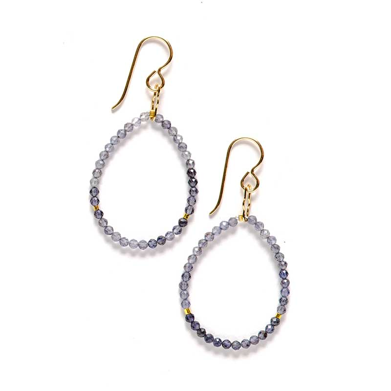 Elegance Hoop Earrings Iolite