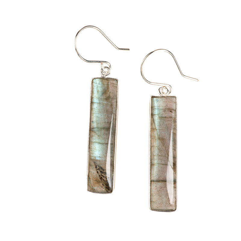 Slab Earrings Labradorite