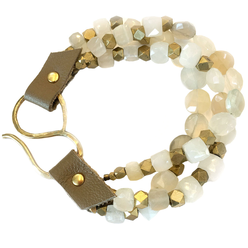 Rutherford Bracelet Blush Moonstone