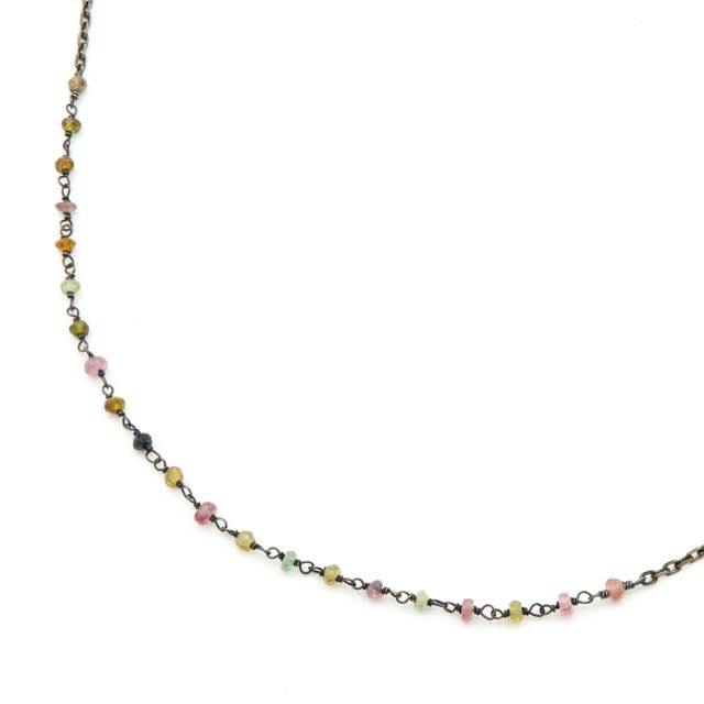 Trellis Necklace, Multi Tourmaline